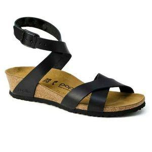 Papillio Birkenstock Lola Ankle Wrap Wedge Sandals